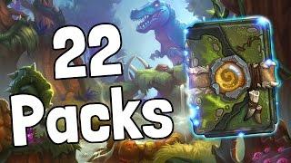Opening 22 Un'Goro Packs - Hearthstone