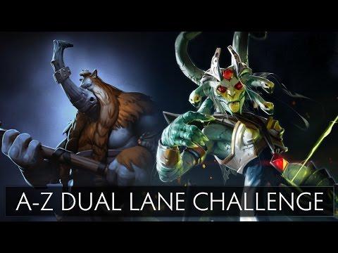 Dota 2 A-Z Dual Lane Challenge - Magnus and Medusa
