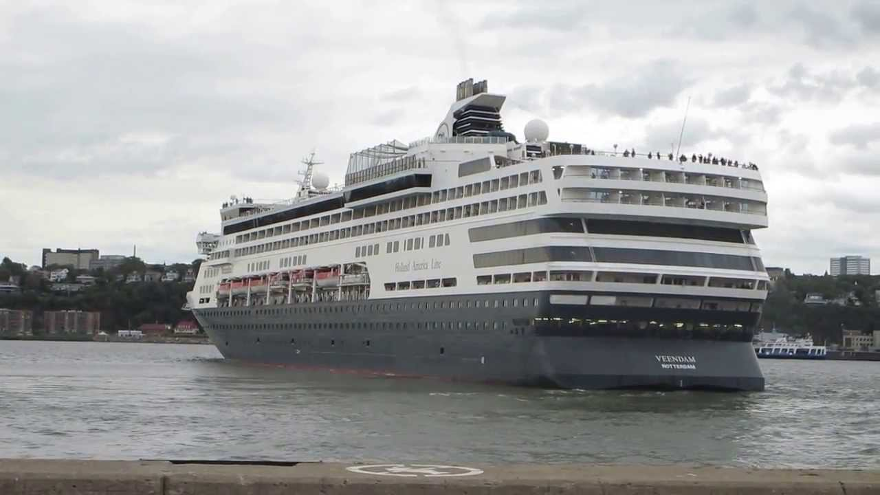Ms Veendam Cruise Ship Quebec City Aug 2013 Youtube