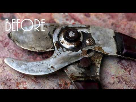 Cleaning / Fixing Ugly Garden Tool Vintage Pruning Shears