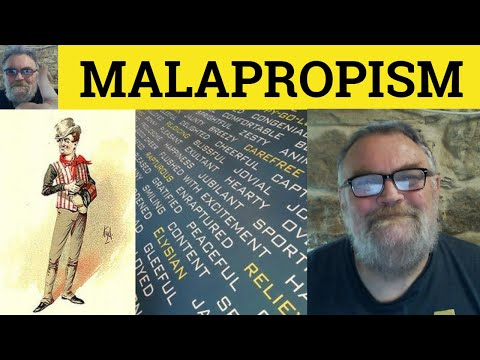 Malapropism - An Explanation - ESL British English Pronunciation