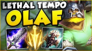 HOW STUPID IS THIS NEW LETHAL TEMPO OLAF?! NEW OLAF TOP SEASON 8 GAMEPLAY! - League of Legends