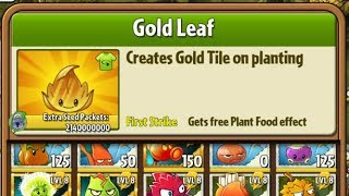 Boosted Gold leaf - Hack - Plants vs. Zombies 2