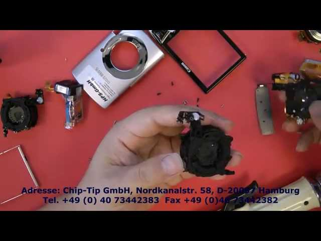 Canon ixus 860 obj, so baut man ein neues objektiv (Lens) ein (camera repair)