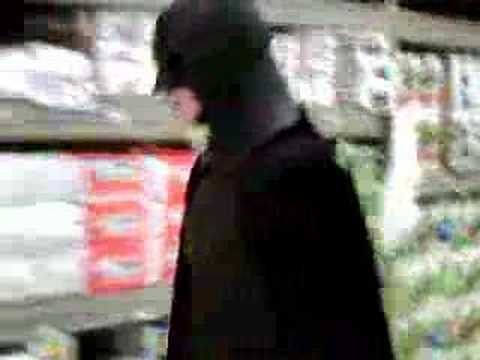 The Dark Knight (A.K.A. Batman) Goes Shopping