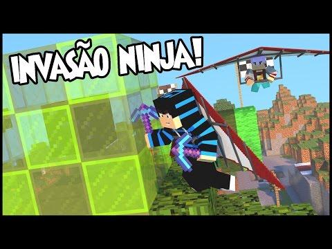 MEGA SKYWARS C/ Asa DELTA #2  Invasão ninja na ilha do Edukof