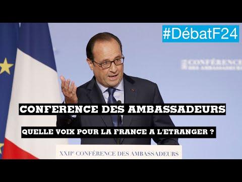 François Hollande expose la ligne diplomatique de la France - #DébatF24