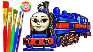 Thomas and Friends Big World Big Adventures Hong Mei HOW to DRAW TRAINS VIDEO for KIDS Coloring Page