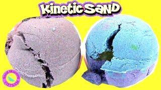 Trứng Cát Động Lực Với  Đồ Chơi Bất Ngờ Bên Trong (Bí Đỏ) Hatching Kinetic Sand Eggs Surprise Toys