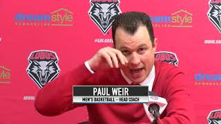 11.10.2018 Men's Basketball Post Game Press Conference vs Northern New Mexico