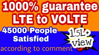 how to convert  LTE TO VOLTE // 10000% LTE to volte  convert // technical news upadates