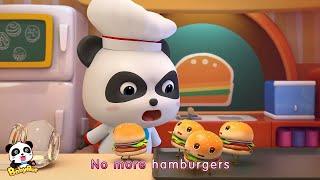 Angry Panda Cook & Naughty Hamburger | Baby Makes Hamburgers | Kid Songs Collection | BabyBus