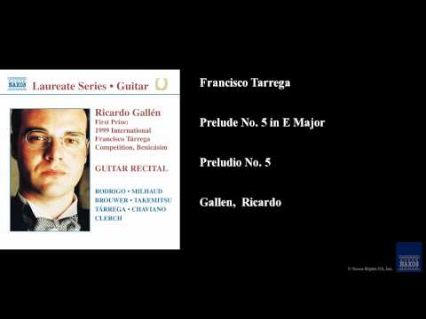 Francisco Tarrega - Prelude 32 In E