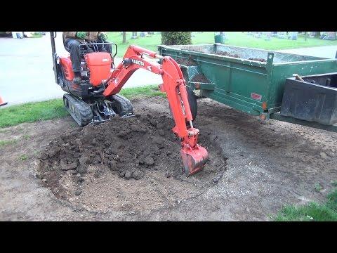 Starting construction of a 7 foot round garden