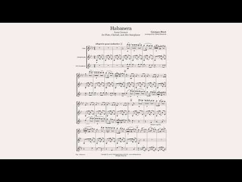 Habanera for Flute/Clarinet/Sax Trio