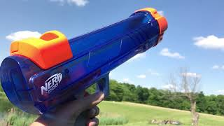Nerf Tennis Ball Launcher (Slow Motion)