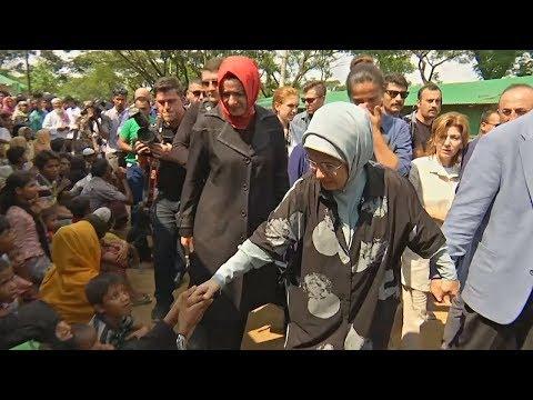 Супруга и сын Эрдогана посетили лагерь мусульман-рохинджа в Бангладеш (новости)