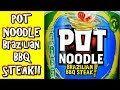 Brazilian BBQ Steak Pot Noodles | WHAT ARE WE EATING?? | The Wolfe Pit