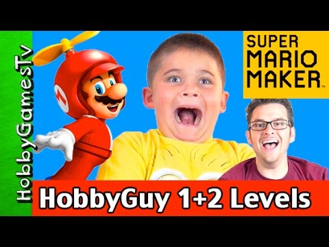 Super Mario Maker HobbyGuy Levels 1+2 Gameplay by HobbyGamesTV