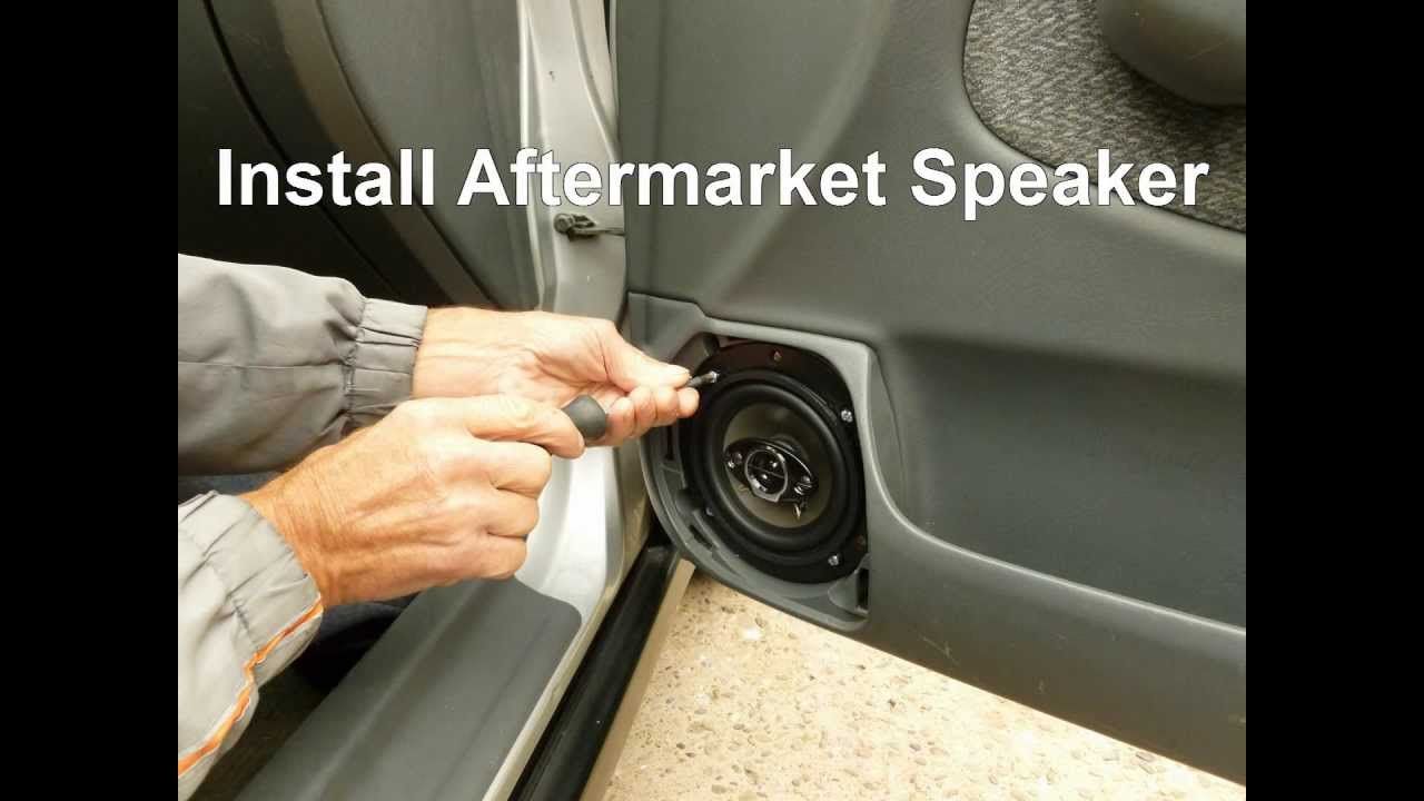 How To Replace Front Door Speakers In A Honda Civic Youtube