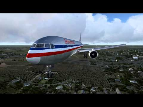 FSX|American Airlines 767|Landing Dallas Fort-Worth|HD