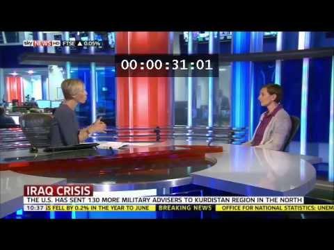 Iraq Crisis: Eva Svoboda speaks to Sky News 13/08/2014