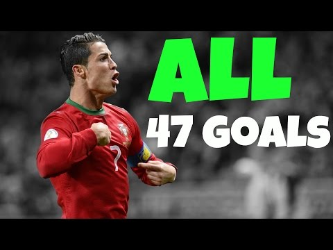CRISTIANO RONALDO ALL 47 GOALS FOR PORTUGAL 2003-2014 ||HD||