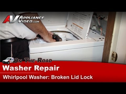 Whirlpool. Maytag & Kenmore  Washer Repair - lid lock switch diagnostics and replacement