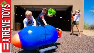 Babysitter Showdown Part 3! The Giant Nerf Dart, and the Nerf Auto Turret Blaster