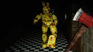 PLAYING AS SPRINGTRAP ATTACKING FREDBEAR AND SPRING BONNIE WITH AN AXE! | FNAF Aftons Revenge