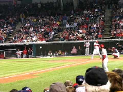 KEN GRIFFEY JR gets walked - CLEVELAND INDIANS vs CINCINNATI REDS 5/19/07 JACOBS FIELD
