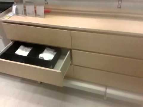 Malm Chest Of 6 Drawers Low Boy Nevada Furniture Mp4