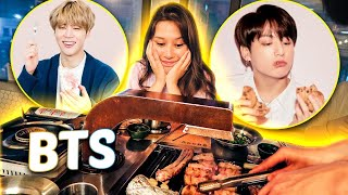 Comi no restaurante favorito do JIMIN e do JUNGKOOK do BTS