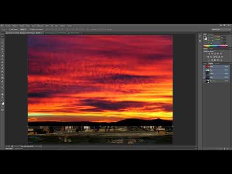 Tutorial photoshop. Cambiar cielos difíciles. Extraer imágenes.