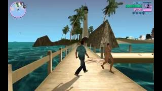 GTA Vice City (Fixed rextures)  - Gameplay on Android KitKat with Gamepad