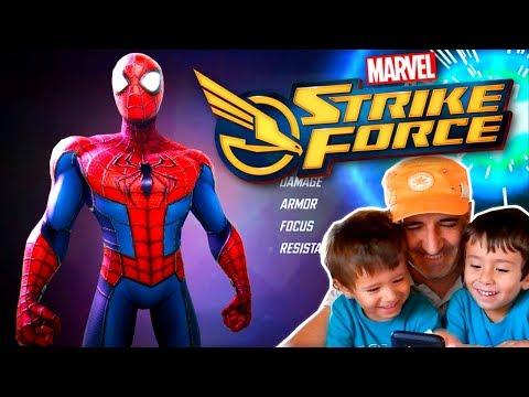 STRIKE FORCE MARVEL con Dani y Evan y SPIDERMAN Juegos y Apps gratis para niños