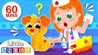 Baby Goes to the Vet | 5 Little Puppies Peekaboo | Nursery Rhymes & Kids Songs by Little Angel