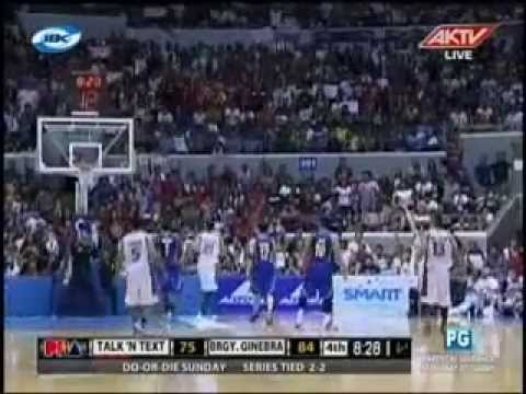 Game 5 semi final match,Brgy Ginebra vs Talk 'N Text 0512-2013 4th Quarter