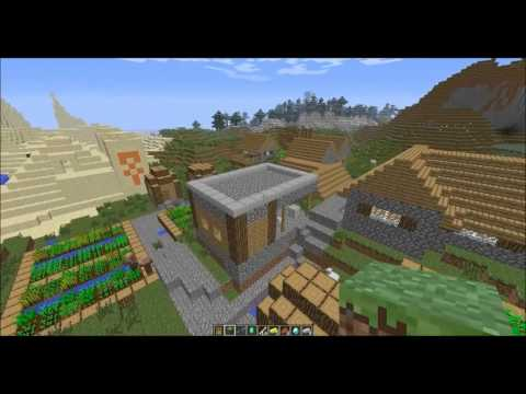 Minecraft Seed 1.6 - Desert Temple Inside Plains Village with Diamond Horse Armo