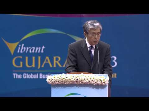 Takeshi Yagi's speech during inaugural ceremony of Vibrant Gujarat Global Summit 2013