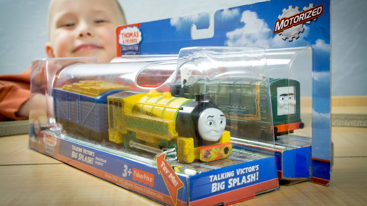 Thomas And Friends TrackMaster Talking Victor And Paxton Unboxing Kinder Playtime YouTube