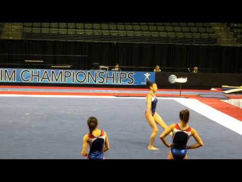 Kyla Ross- Floor Exercise - 2012 Kellogg&#039;s Pacific Rim Championships Podium Training