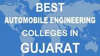 Best Automobile Engineering Colleges in Gujarat