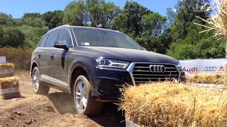 NEW AUDI Q7 2015 - OFF ROAD TEST COSTA SMERALDA ONLY SOUND