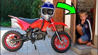 Funny Baby Ride on New Dirt Cross Bike Mini Power Wheel Pocket Bike Hide and Seek with Daddy