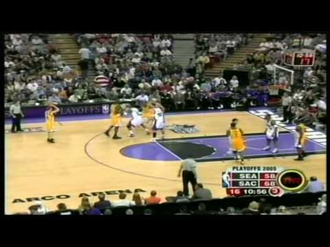 Ray Allen 45 pts,6 ast,4 stl, playoffs 2004/05 sonics vs kings game 4