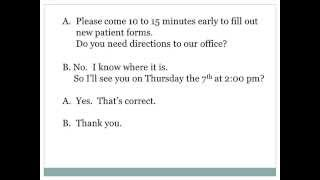 Making a Doctors Appointment ESL Dialog Presentati