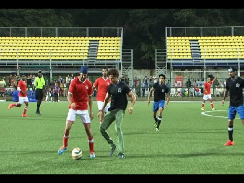 Hrithik Roshan playing Charity Football Match organised by Aamir Khan's daughter Ira Khan.