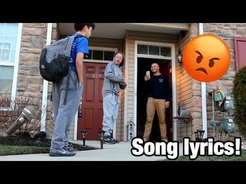 SAYING SONG LYRICS AT PEOPLE'S DOORSTEP PRANK!