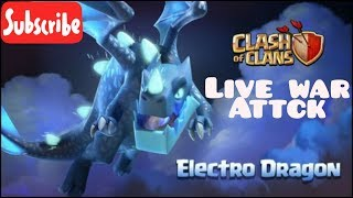 Clash of Clan live war ELECTRO DRAGON attack  free gems need download the link the description